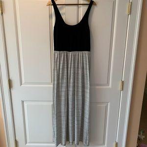 LOFT Size M Striped Maxi Dress